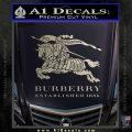 Burberry Logo Decal Sticker Silver Vinyl 120x120