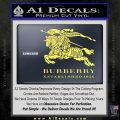 Burberry Logo Decal Sticker Yelllow Vinyl 120x120