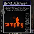 CAMPING VINYL DECAL STICKER Orange Vinyl Emblem 120x120