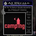CAMPING VINYL DECAL STICKER Pink Vinyl Emblem 120x120