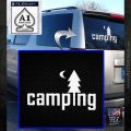 CAMPING VINYL DECAL STICKER White Emblem 120x120