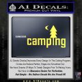 CAMPING VINYL DECAL STICKER Yelllow Vinyl 120x120