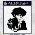 COWBOY BEBOP SPIKE GUN VINYL DECAL STICKER Black Logo Emblem 120x120