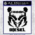 CUMMINS DIESEL RAM DODGE LOGO VINYL DECAL STICKER Black Logo Emblem 120x120