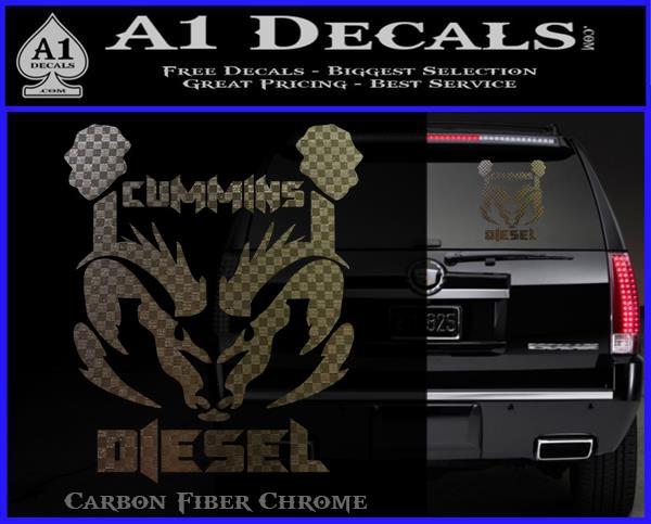Cummins Diesel Decal Sticker RT A Decals - Badass decals for trucks