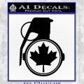 Canada Maple Leaf Grenade Decal Sticker Black Logo Emblem 120x120