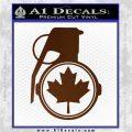 Canada Maple Leaf Grenade Decal Sticker Brown Vinyl 120x120