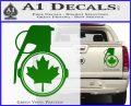 Canada Maple Leaf Grenade Decal Sticker Green Vinyl 120x97
