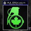 Canada Maple Leaf Grenade Decal Sticker Lime Green Vinyl 120x120