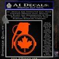 Canada Maple Leaf Grenade Decal Sticker Orange Vinyl Emblem 120x120