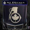 Canada Maple Leaf Grenade Decal Sticker Silver Vinyl 120x120