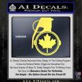 Canada Maple Leaf Grenade Decal Sticker Yelllow Vinyl 120x120