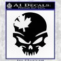 Canada Skull Decal Sticker Black Logo Emblem 120x120