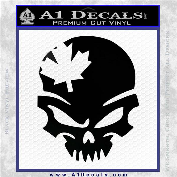 Canada Skull Decal Sticker 187 A1 Decals
