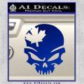 Canada Skull Decal Sticker Blue Vinyl 120x120
