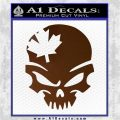 Canada Skull Decal Sticker Brown Vinyl 120x120
