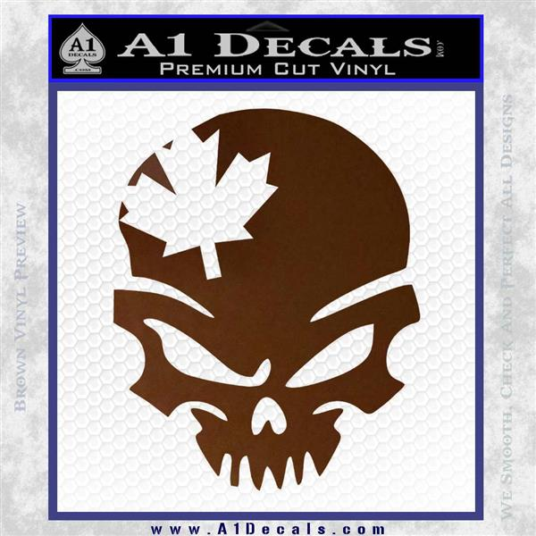 Canada Skull Decal Sticker A Decals - Vinyl decal stickers canada