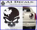 Canada Skull Decal Sticker Carbon Fiber Black 120x97