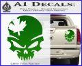 Canada Skull Decal Sticker Green Vinyl 120x97