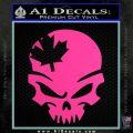 Canada Skull Decal Sticker Hot Pink Vinyl 120x120