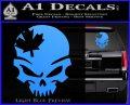 Canada Skull Decal Sticker Light Blue Vinyl 120x97