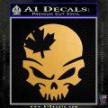 Canada Skull Decal Sticker Metallic Gold Vinyl 120x120