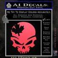 Canada Skull Decal Sticker Pink Vinyl Emblem 120x120