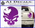 Canada Skull Decal Sticker Purple Vinyl 120x97