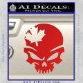 Canada Skull Decal Sticker Red Vinyl 120x120