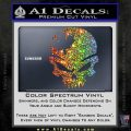 Canada Skull Decal Sticker Sparkle Glitter Vinyl 120x120