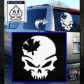 Canada Skull Decal Sticker White Emblem 120x120