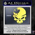 Canada Skull Decal Sticker Yelllow Vinyl 120x120