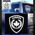 Canadian Army Military Decal Sticker White Emblem 120x120