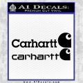 Carhartt Decal Sticker 2pk Black Logo Emblem 120x120