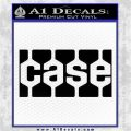 Case Logo Decal Sticker Black Logo Emblem 120x120