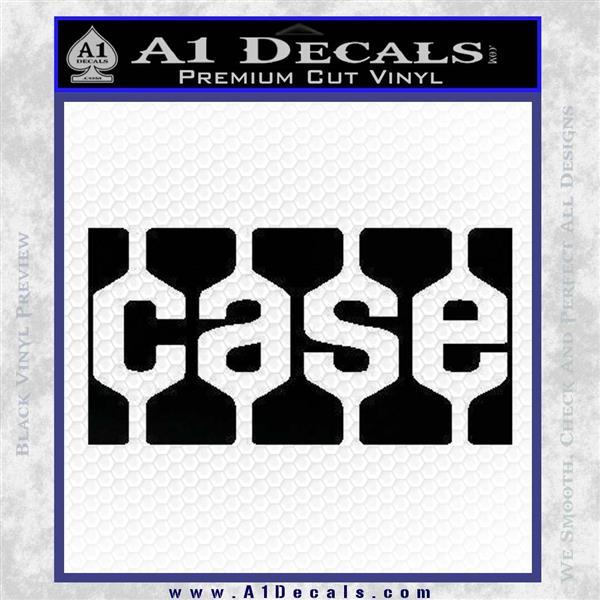 Case Logo Decal Sticker Black Logo Emblem
