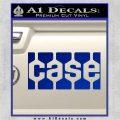Case Logo Decal Sticker Blue Vinyl 120x120