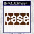 Case Logo Decal Sticker Brown Vinyl 120x120