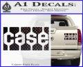 Case Logo Decal Sticker Carbon Fiber Black 120x97