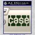 Case Logo Decal Sticker Dark Green Vinyl 120x120