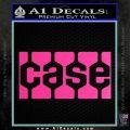 Case Logo Decal Sticker Hot Pink Vinyl 120x120