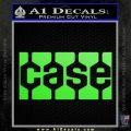 Case Logo Decal Sticker Lime Green Vinyl 120x120