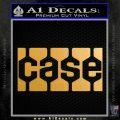 Case Logo Decal Sticker Metallic Gold Vinyl 120x120