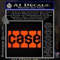 Case Logo Decal Sticker Orange Vinyl Emblem 120x120