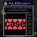 Case Logo Decal Sticker Pink Vinyl Emblem 120x120