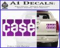 Case Logo Decal Sticker Purple Vinyl 120x97