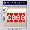 Case Logo Decal Sticker Red Vinyl 120x120