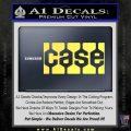Case Logo Decal Sticker Yelllow Vinyl 120x120