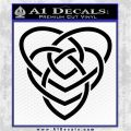 Celtic Creator Knot Decal Sticker Black Logo Emblem 120x120