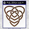 Celtic Creator Knot Decal Sticker Brown Vinyl 120x120